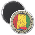 Alabama State Seal 2 Inch Round Magnet