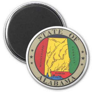 Alabama State Seal 2 Inch Round Magnet