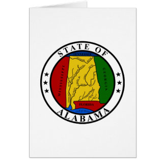 Alabama State Seal and Motto Card