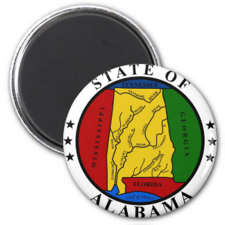Alabama State Seal and Motto Magnet