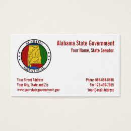 Alabama State Seal Government Business Card