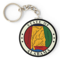 Alabama State Seal Keychain