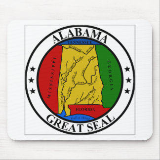 Alabama State Seal Mouse Pad