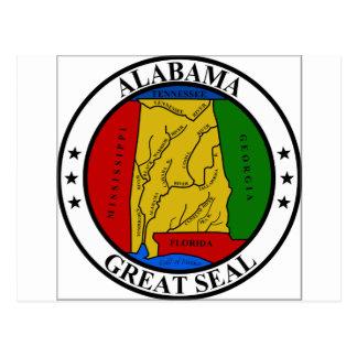 Alabama State Seal Postcard