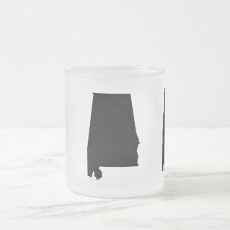 Alabama State Themed Decor Frosted Glass Coffee Mug