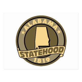 Alabama Statehood Postcard