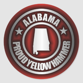 Alabama Steel Stickers Red