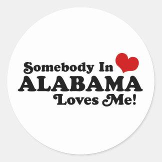 Alabama Round Stickers