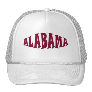 Alabama Stylized Red Text Trucker Hat