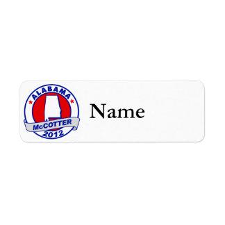 Alabama Thad McCotter Label