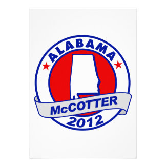 Alabama Thad McCotter Personalized Invite