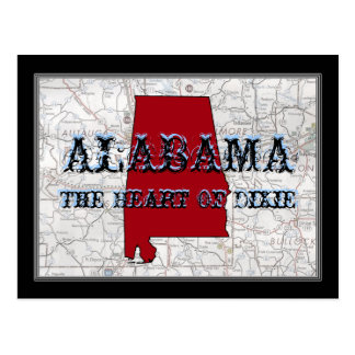Alabama The Heart Of Dixie Post Card