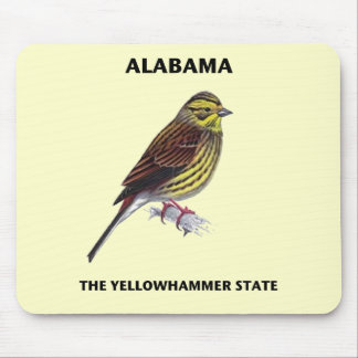 Alabama The Yellowhammer State Mouse Pad