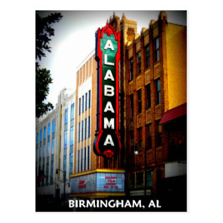 ALABAMA THEATRE - BIRMINGHAM, ALABAMA POSTCARD