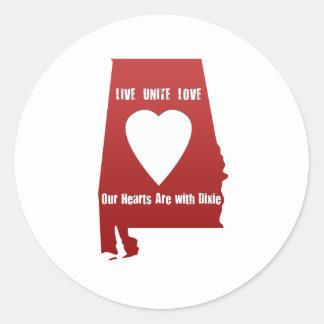 Alabama Tornado Relief Round Sticker