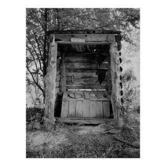 ALABAMA TWO SEAT OUTHOUSE POSTERS