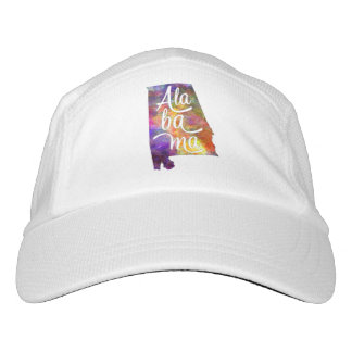 Alabama U.S. State in watercolor text cut out Headsweats Hat