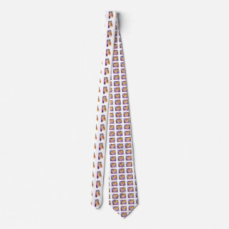 Alabama U.S. State in watercolor text cut out Neck Tie