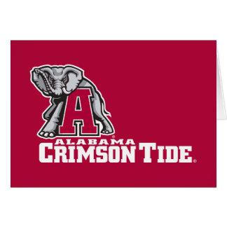 Alabama un Al grande de la marea carmesí Tarjeta De Felicitación