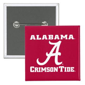 Alabama una marea carmesí pin cuadrado
