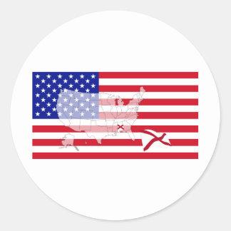 Alabama, USA Classic Round Sticker