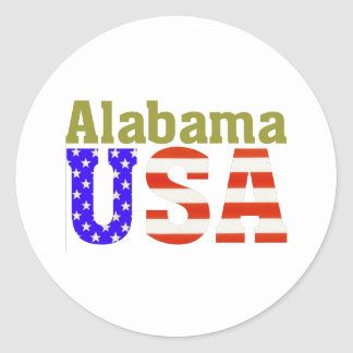 Alabama USA! Classic Round Sticker