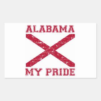 Alabama Usa Design Rectangular Sticker