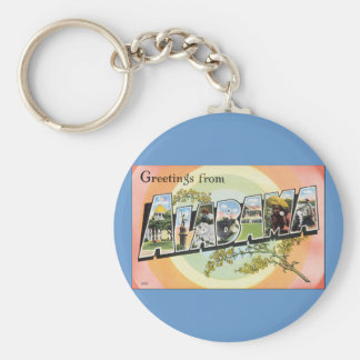 Alabama - Vintage Alabama Travel Keychain