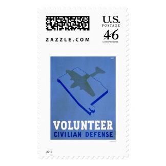 Alabama Volunteer Defense 1942 WPA Postage Stamps