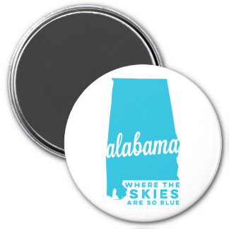 alabama | where the skies are so blue | sky blue magnet
