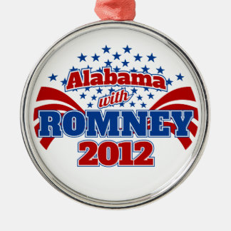 Alabama with Romney 2012 Metal Ornament