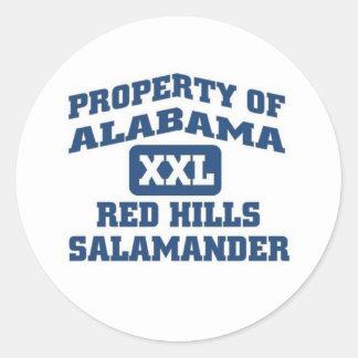 Alabama XXL Red Hills Salamander Classic Round Sticker