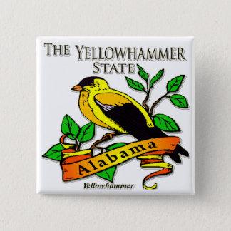 Alabama Yellowhammer Bird Button