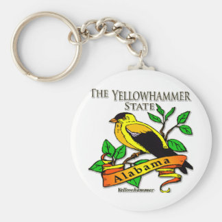 Alabama Yellowhammer Bird Keychain