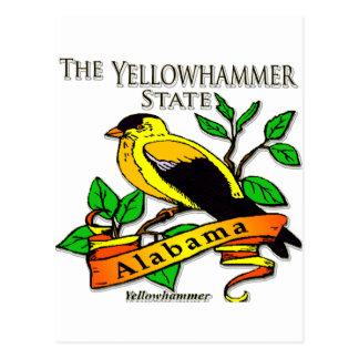 Alabama Yellowhammer Bird Postcard