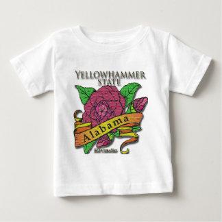 Alabama Yellowhammer State Camellias Baby T-Shirt