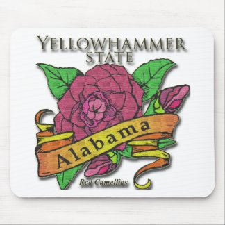 Alabama Yellowhammer State Camellias Mouse Pad