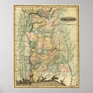 AlabamaPanoramic MapAlabama Impresiones