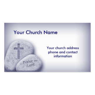 Alabanza cristiana el azul de la tarjeta del señor plantillas de tarjeta de negocio