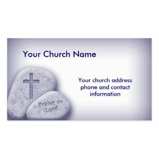 Alabanza cristiana el azul de la tarjeta del señor tarjetas de visita