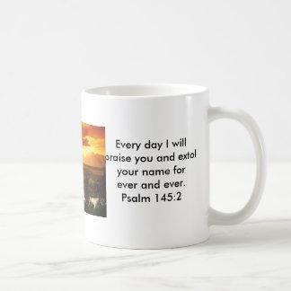 Alabanza de los salmos taza