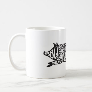 Alabanza del vintage el cerdo divertido de la taza de café