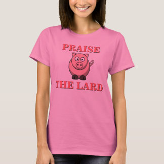 Alabanza divertida del tocino del cerdo el rosa de playera