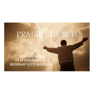 Alabanza espiritual de la iglesia del pastor crist plantilla de tarjeta de visita
