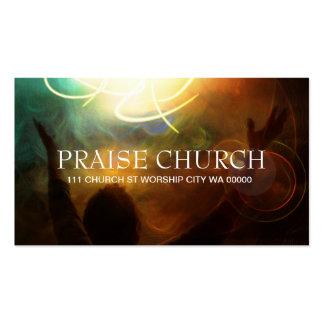 Alabanza espiritual de la iglesia del pastor tarjeta de visita