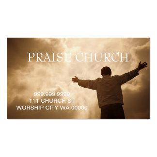 Alabanza espiritual de la iglesia del pastor tarjetas de visita