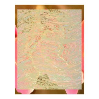 Alabanza rosada - arte del pétalo color de rosa membrete personalizado