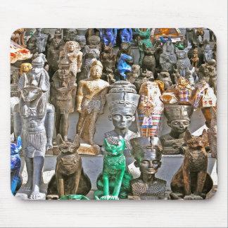 Alabaster Egyptian Figurines(2) Mousepad