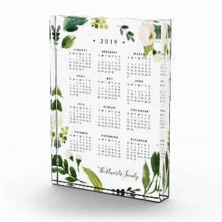 Alabaster Floral 2019 Desk Calendar Block