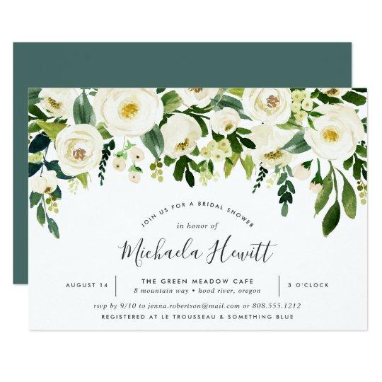 Alabaster floral bridal shower invitation zazzle alabaster floral bridal shower invitation filmwisefo